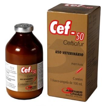 Cef-50 - Ceftiofur Injetável Fr 100 mL - Agener União