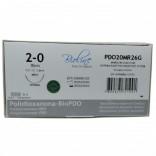 Fio de Sutura Polidioxanona BIOPDO Nº 2-0 - 70 cm Ag 1/2 C. 2,6 cm 1 Und. - Bioline