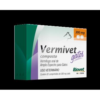 Vermivet Composto 300 Mg Gatos c/ 2 Comprimidos - Biovet