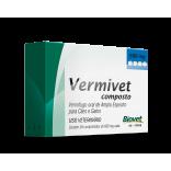 Vermivet Composto 600 Mg Cães e Gatos c/ 4 Comprimidos - Biovet