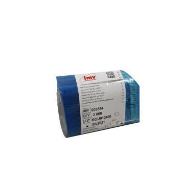 Palheta 0.25 mL Azul Pastel Pacote C/ 2000 Und - IMV