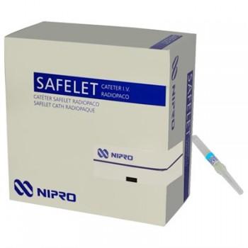 Cateter Intravenoso 24G x 3/4¨Caixa C/ 50 Un - Safelet Cath Nipro