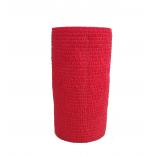 Atadura Elástica Flexível 10cm X 4,5mt Vermelha - SYR Vet