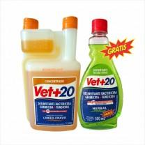 Desinfetante Vet+20 Bactericida Limão-Cravo 1000 mL + Brinde