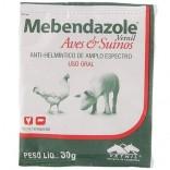 Mebendazole Evelope 30 Gr - Vetnil ( Vermifugo P/ Aves, Suínos )