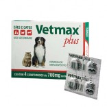 Vetmax Plus Blister C/ 4 Comprimidos - Vetnil
