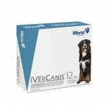 Ivercanis (Ivermectina) 12 mg C/ 4 Comprimidos - World