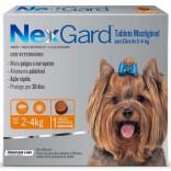 Antipulgas E Carrapatos Nexgard Cães De 2 A 4 Kg Caixa c/ 3 Comprimidos