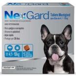 Antipulgas E Carrapatos Nexgard Cães de 4,1 a 10 Kg 1,25 Gr - Caixa C/ 3 Comprimidos